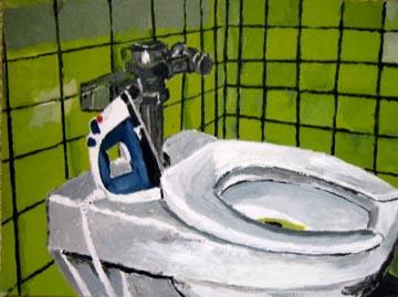 Toilet and Iron